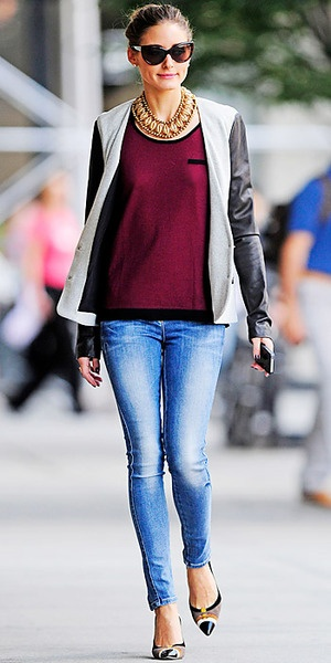 olivia palermo in a collar necklace