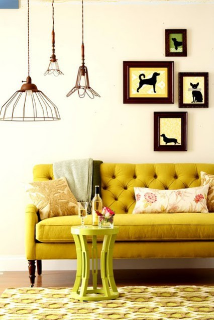 yellow interior decorating