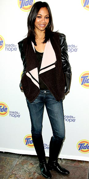zoe saldana leather jacket