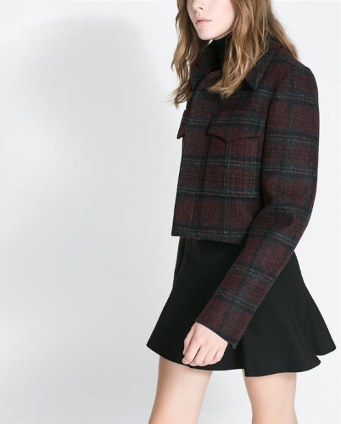 zara plaid jacket